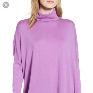 Lilac Lavender mock neck sweater